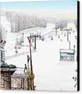 Apres-ski At Hidden Valley Canvas Print by Albert Puskaric