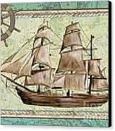 Aqua Maritime 1 Canvas Print by Debbie DeWitt