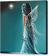 Aquamarine Fairy By Shawna Erback Canvas Print by Shawna Erback
