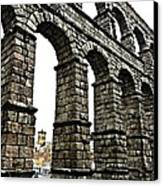 Aqueduct Of Segovia - Spain Canvas Print by Juergen Weiss