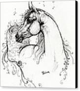 Arabian Horse Drawing 8 Canvas Print by Angel  Tarantella
