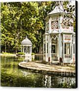 Aranjuez Park Lake Canvas Print by Stefano Piccini