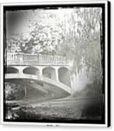 Arboretum Bridge Canvas Print by Justine Connolly