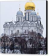Archangel Cathedral Of Moscow Kremlin - Featured 3 Canvas Print