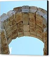 Arched Gate Of The Tetrapylon Canvas Print by Tracey Harrington-Simpson