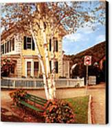 Architecture - Woodstock Vt - Where I Live Canvas Print by Mike Savad