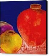 Arizona Pottery Canvas Print by Andrea Vazquez-Davidson