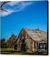 Arkansas Barn And Blue Skies Canvas Print by Jim McCain