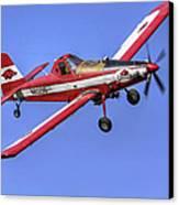 Arkansas Razorbacks Air Tractor Canvas Print