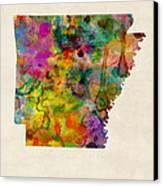 Arkansas Watercolor Map Canvas Print