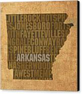 Arkansas Word Art State Map On Canvas Canvas Print