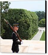 Arlington National Cemetery - Tomb Of The Unknown Soldier - 01135 Canvas Print by DC Photographer