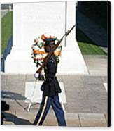 Arlington National Cemetery - Tomb Of The Unknown Soldier - 121210 Canvas Print by DC Photographer