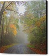 Around The Bend Canvas Print by Judy  Waller