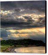 Art For Crohn's Lake Ontario Sun Beams Canvas Print by Tim Buisman