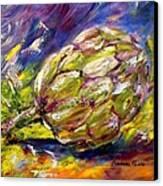 Artichoke Canvas Print by Barbara Pirkle