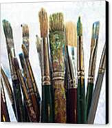 Artist Paintbrushes Canvas Print