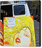 Artist With Attitude Canvas Print by Allen Beatty