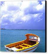 Aruba. Fishing Boat Canvas Print by Anonymous