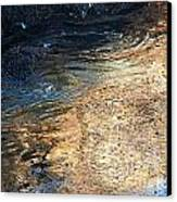 As The Ocean Wave Swirled It Looked Like Gold Canvas Print