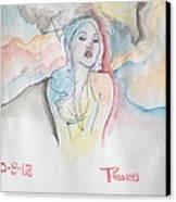 Asa Canvas Print by Erik Franco