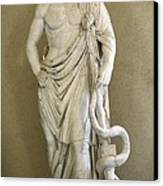 Asclepius. 4th C. Bc. Classical Greek Canvas Print