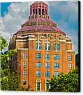 Asheville City Hall Canvas Print by John Haldane