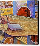 Asian Fish Market Canvas Print