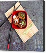 Asian Meatballs 1 Canvas Print by Jane Rix