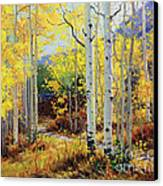 Aspen Cabin Canvas Print by Gary Kim