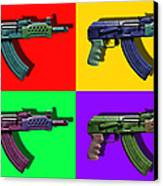 Assault Rifle Pop Art Four - 20130120 Canvas Print