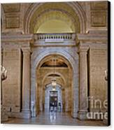 Astor Hall At The New York Public Library Canvas Print