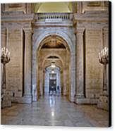 Astor Hall New York Public Library Canvas Print by Susan Candelario