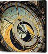 Astronomical Clock In Prague Canvas Print by Jelena Jovanovic