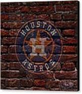 Astros Baseball Graffiti On Brick  Canvas Print by Movie Poster Prints