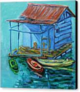 At Boat House Canvas Print by Xueling Zou