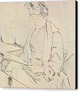 At The Cafe Canvas Print by Henri de Toulouse-Lautrec