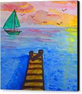 At The Dock Canvas Print by Haleema Nuredeen