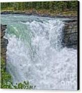 Athabasca Falls Study V Close-up Canvas Print