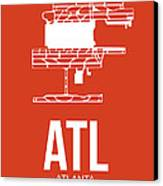 Atl Atlanta Airport Poster 3 Canvas Print