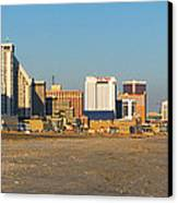 Atlantic City At Sunset Canvas Print by Olivier Le Queinec