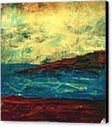 Atlantic Ocean Beach Scene Canvas Print by Laura Carter