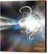 Atom Collision Canvas Print by Mike Agliolo