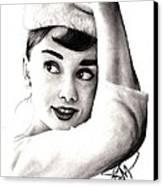 Audrey Hepburn 2 Canvas Print by Rosalinda Markle
