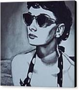 Audrey Hepburn Canvas Print by Lori Keilwitz