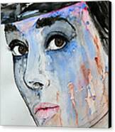 Audrey Hepburn - Painting Canvas Print