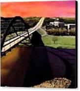 Austin 360 Bridge Canvas Print by Marilyn Hunt