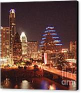 Austin Lights The Night Canvas Print by Terry Rowe