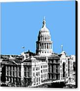 Austin Texas Capital - Sky Blue Canvas Print