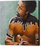 Australian Aboriginal Canvas Print by David Hawkes